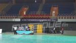 La sélection nationale de Handball présente à la salle qui abritera les rencontres de la CAN