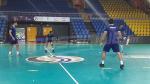 تمارين منتخب كرة اليد في قصر الرياضة بليبروفيل