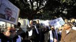 وقفة احتجاجية للمطالبة باطلاق سراح أمنيين أوقفوا على خلفية وفاة موقوف بمركز العروسة