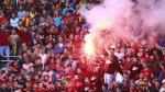 استعمال الغاز المسيل للدموع في ملعب رادس