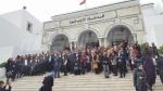 Sit-in de la LTDH contre les événements du tribunal de Ben Arous