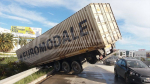 Embouteillage monstre suite au renversement d'un camion
