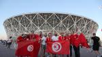 Les supporters de l'EN avant le match contre l'Angleterre en Russie