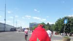 L'ambiance des supporters avant le match qui opposera le Maroc au Portugal au stade Loujniki à Moscou