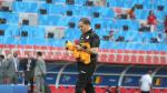 Séance d'entraînement de l'EN avant le match avec la Belgique