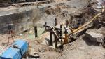 La zone touchée par l'explosion du canal de distribution d'eau à Ezzahrouni après maintenance