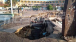 La Corniche de Nabeul détruit par les inondations