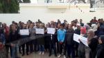 Les enseignants suppléants protestent à Kasserine