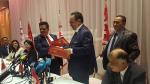 مؤتمر صحفي مشترك لحزبي نداء تونس والاتحاد الوطني الحر