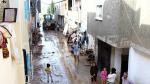 Des maisons inondées par les pluies à Sidi Hsine