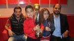 جمهور الترجي مع كأس رابطة الأبطال الافريقية في موزاييك