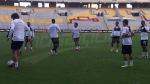 Dernière séance d'entraînement de l'EN avant le match