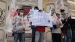 Un rassemblement protestataire devant le théâtre municipal contre la pollution à Gabes