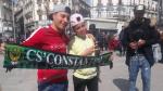 Les supporters du Club africain à Constantine
