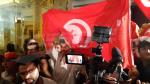 Ambiance au QG du candidat Kaïs Saïed