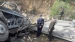 حادث إنقلاب حافلة ترفيهية في عمدون