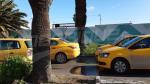 وقفة إحتجاجية لسواق التاكسي الفردي في شارع محمد الخامس