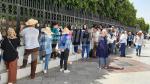 شباب القصرين المعطلين عن العمل في وقفة إحتجاجية أمام قصر الحكومة بالقصبة