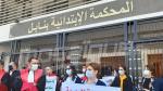 تأبين القاضية سنية العريضي ووقفة احتجاجية للقضاة امام المحكمة الابتدائية بنابل